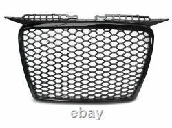 RS3 Design Front Honey comb Grill for A3 8P 05-08 BLACK GLOSS