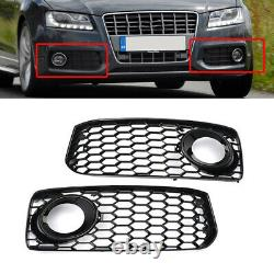 RS5 Style Honeycomb Fog Light Grille Cover For Audi S5 B8 Coupe /A5 S-Line 08-12