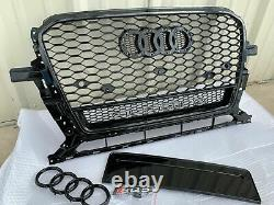 RSQ5 Style Honeycomb Front Grill Upper Grille For AUDI Q5/SQ5 WithQuattro 2013-17