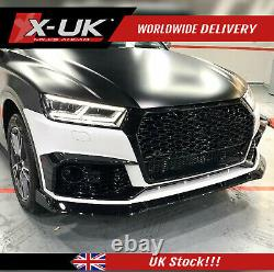 RSQ5 style honeycomb grill black with lower frame for Audi Q5 /SQ5 FY 2016-2019