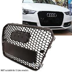 Rs5 Style Badgeless Debadged Race Sport Black Grill Grille For Audi A5 8t 13-16