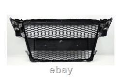 Schwarz matt mesh grill für rs4 s line für Audi a4 b8 wabengrill kühlergrill neu