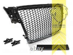 Sportgrill Kühlergrill für Audi A4 B8 8K schwarz Hochglanz auch für S-Line S5 RS
