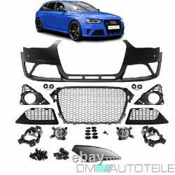 Stoßstange für PDC+SRA + Grill Schwarz passt für Audi A4 8K B8 ab 11-15 kein RS4