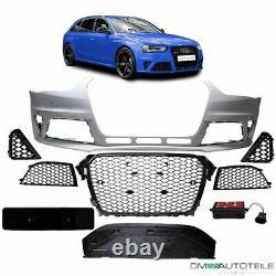 Stoßstange vorne für SRA+PDC + Wabengrill passt für Audi A4 B8 8K 11-16 kein RS4