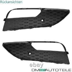 Stoßstangengitter SET + Kühlergrill Wabendesign Paket Schwarz Audi A3 8V 12-16