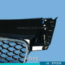 TTRS Style For Audi TT TTS 8J 06-14 Bumper Grille Honeycomb Grill with Silver RIM