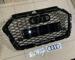 Uk Stock Audi Rs3 Fits A3 S3 Front Grill 2016 66 2020 8v Facelift Honeycomb 17